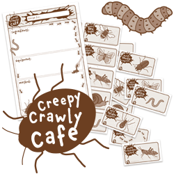 creepy crawly recipe cards