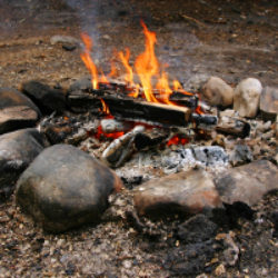 firepit and campfire