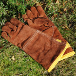 brown fire gloves