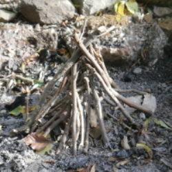 teepee fire lay