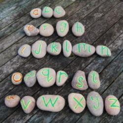 painted stones writing