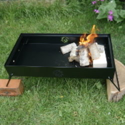 double firebox with one side lit