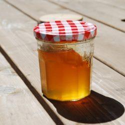jar of dandelion jam