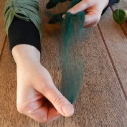 Pulling off fibres
