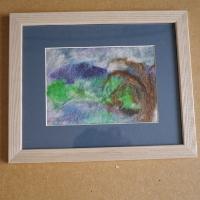 wet felt picture in frame