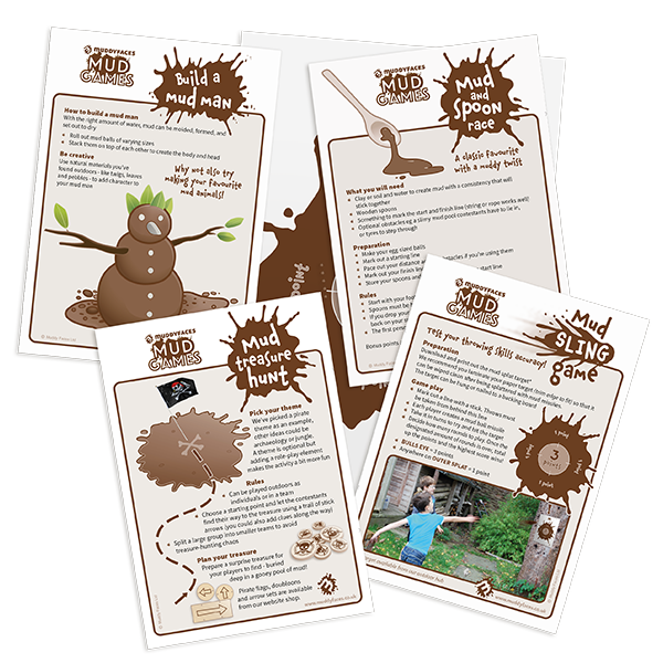 mud day activity cards