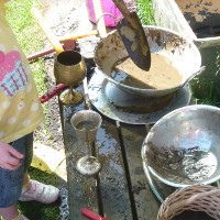 weighing and measuring with mud