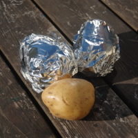 cooking baked potato from raw