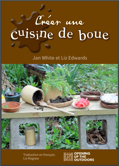 Making a Mud Kitchen book cover - French translation