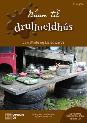 Making a Mud Kitchen book cover - Icelandic translation