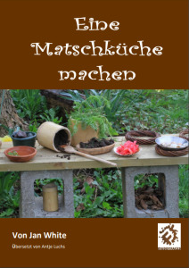 Making a Mud Kitchen book cover - German translation