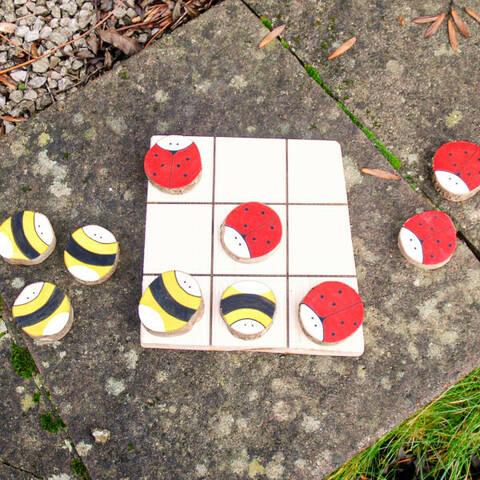 Tic Tac Toe Set - Bees & Ladybirds