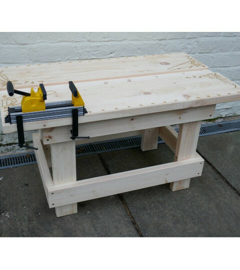 Heavy Duty Woodworking Bench