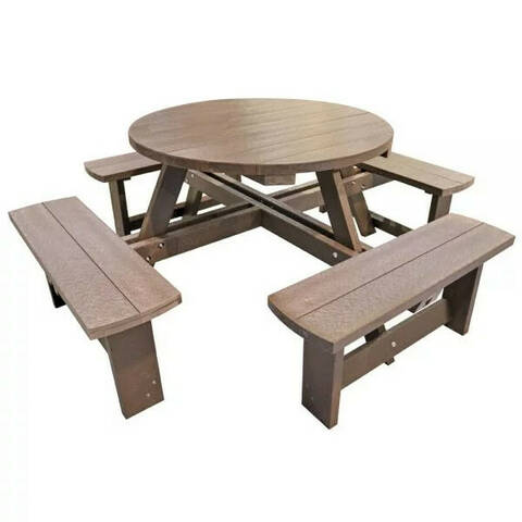 Recycled Plastic Round Picnic Bench - Junior