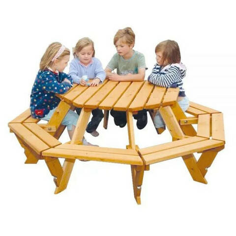 Octagonal Picnic Bench - Infant