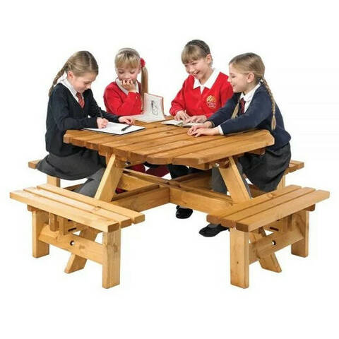 Octagonal Picnic Bench - Junior