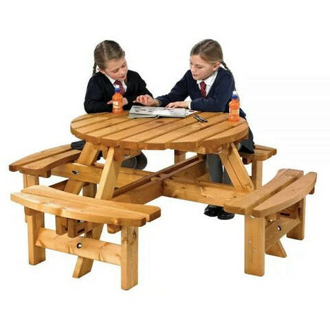 Round Picnic Bench - Junior