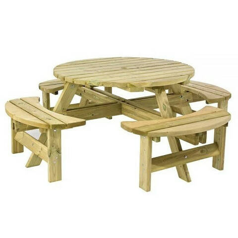 Round Picnic Bench - Adult