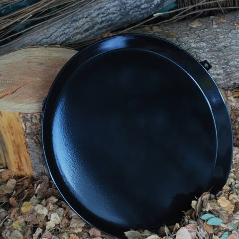 Black Enamel BBQ Pan