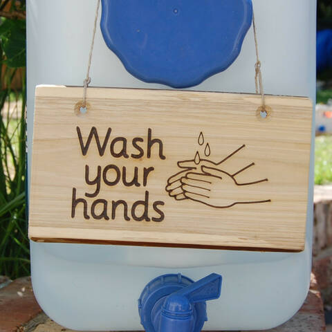 Deluxe Sign - Wash your hands