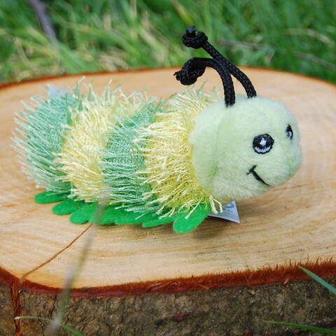 Green Caterpillar Finger Puppet