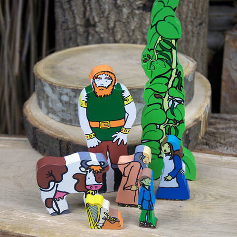 Jack and the Beanstalk Wooden Character Set