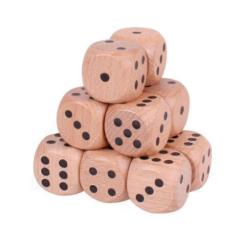 Natural Chunky Dice - Pack of 12