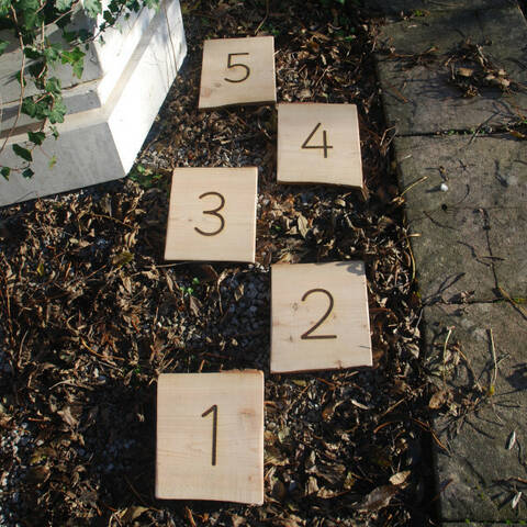 Numeral Stepping Boards