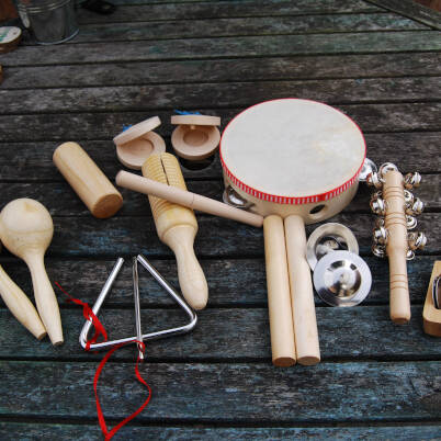 Percussion Instruments - 10 piece