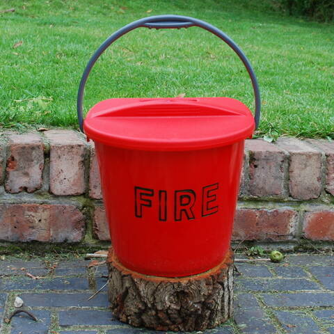 Plastic Fire Bucket with Lid