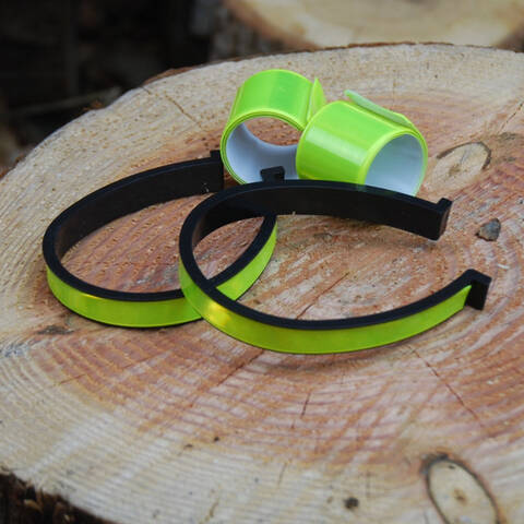 Reflective Arm Bands and Trouser Clips