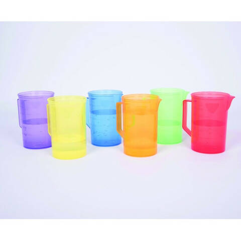 Translucent Colour Jug Set - Pack of 6