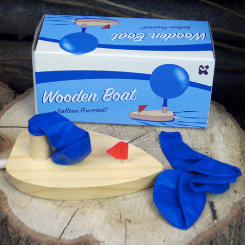 Wooden Boat - Balloon Powered